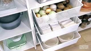 Martha's New Pantry Storage System - Martha Stewart