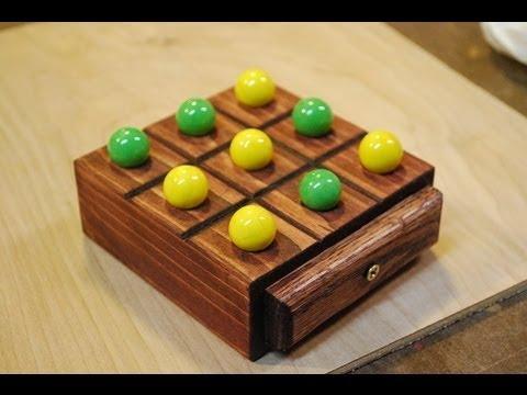 How To Make A Marble Tic Tac Toe Board Woodloggercom Youtube