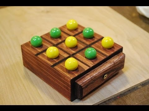 How to Make a Marble Tic-Tac-Toe Board (woodlogger.com) - YouTube