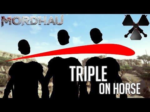 Triple Decap On Horse (& Godlike Axe Throwing) - Mordhau Moments