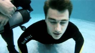 Воробьев-тренировка по подводному плаванию для фильма