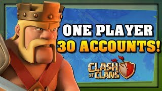 WAR vs ONE PLAYER and 30 ACCOUNTS in Clash of Clans!