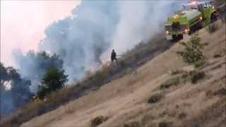 Large Wildfire Response + On-scene Pics and Video - GCFD5, Phoenix Dr. and Highway 17 (6-7-15)