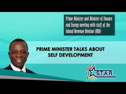 Prime Minister Keith Mitchell tours Ministry of Finance -- Inland Revenue Division (part 1)