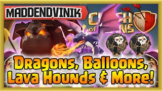 Clash of Clans - Dragons, Balloons, Lava Hounds & More! (Gameplay Commentary)