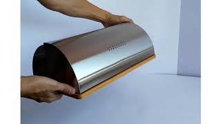 Обзор хлебницы Maestro MR 1672S - деревянный низ, металлический верх