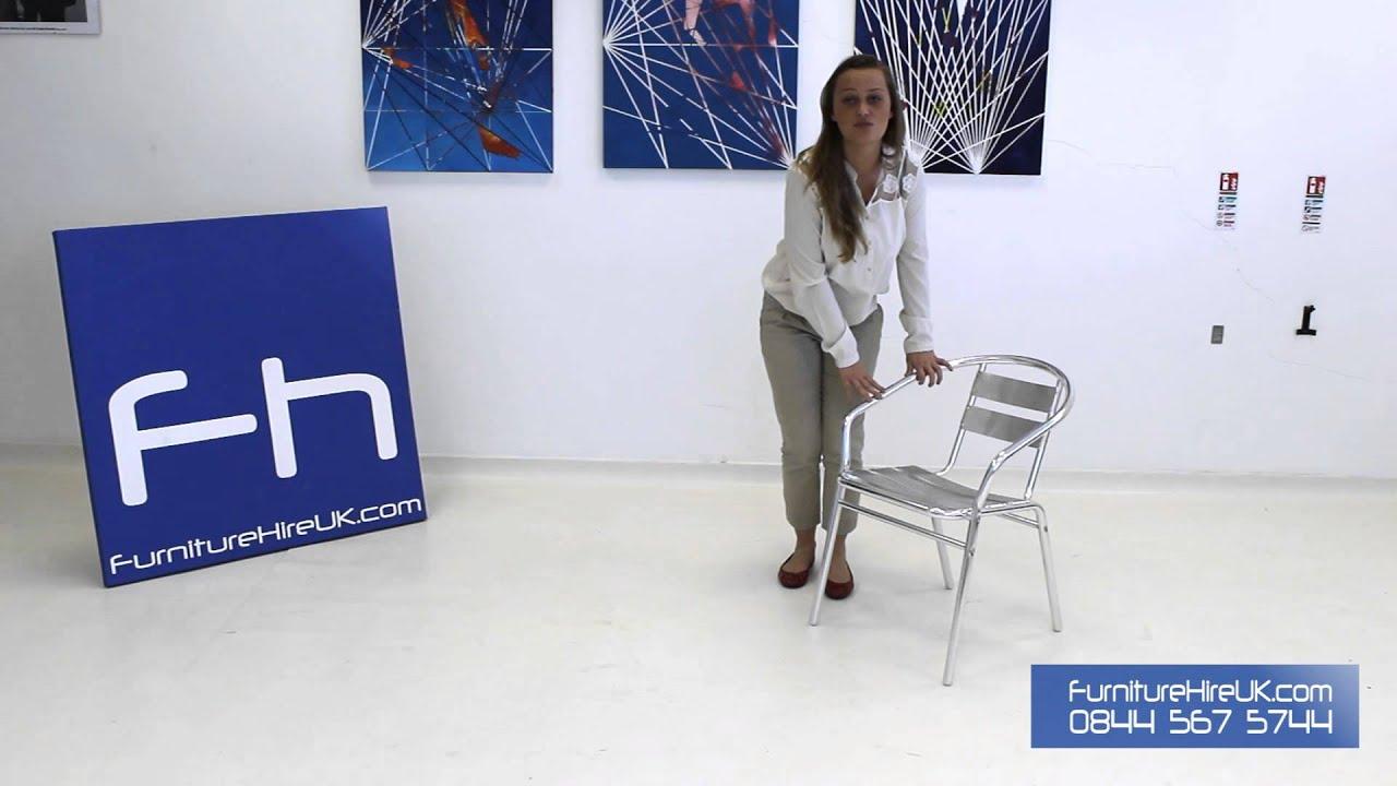 Chrome Bistro Chair Demo - Furniture Hire UK