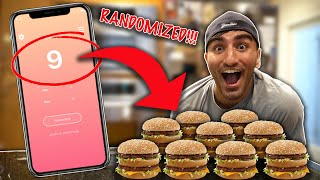 Letting A RANDOM Number Generator DECIDE Where I Eat For 24 Hours!