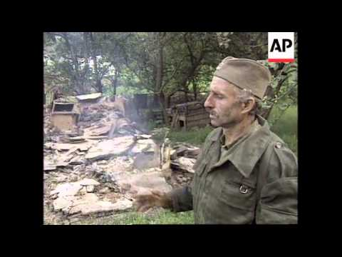 BOSNIA: VILLAGE DEVASTATED BY BOSNIAN GOVERNMENT ARMY