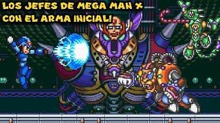 Desafío: Todos los Jefes de Mega Man X con el Arma Inicial! - Pepe el Mago Juega