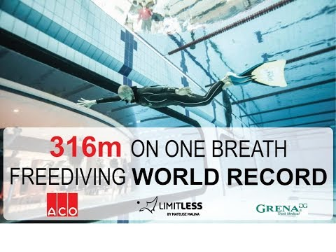 Freediving world record monofin Mateusz Malina (DYN 316.53m)