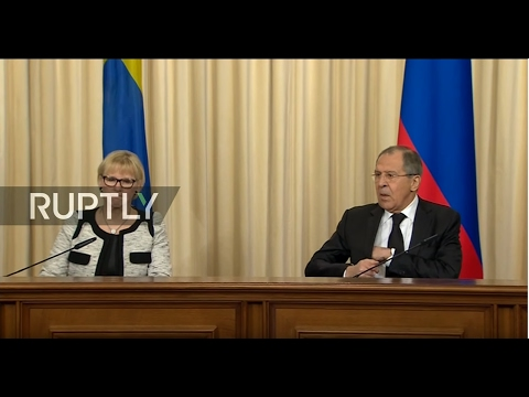 LIVE: Sergei Lavrov holds press conference with Swedish counterpart