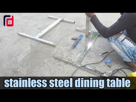 stainless steel dining table design