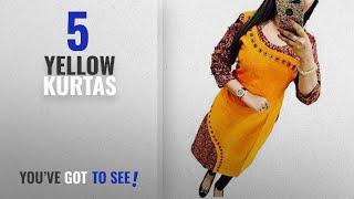 Top 10 Yellow Kurtas [2018]: Holyday Kurti For Women Party Wear Designer Yellow Color