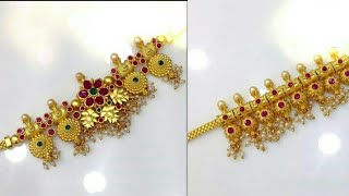 Treditional Gold Designer Bajuband||Beautiful Gold Armlet Designs||
