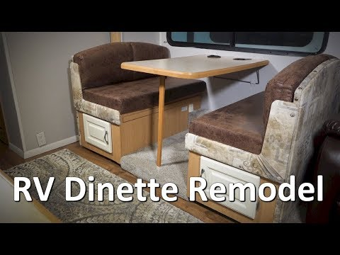 RV Renovation and Remodel - Complete Dinette Redo