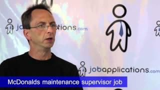 McDonalds Interview - Maintenance Supervisor