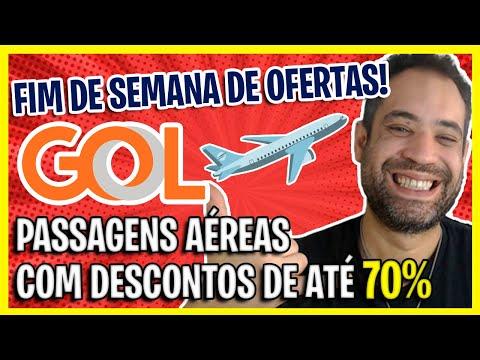 70% DE DESCONTO! PASSAGENS AÉREAS GOL COM PREÇO DE BANANA NESSE FINAL DE SEMANA!