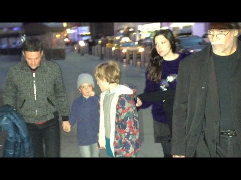 Liv Tyler And Dave Gardner Take Their Sons To The New York Rangers Game