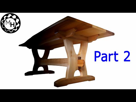 Dining Table Base With 100% WOODEN Joinery