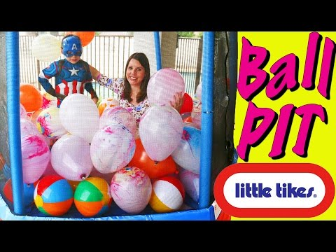 Giant Surprise Toys Little Tikes Dome + Huge Balloon Trampoline & Kids Playhouse Toys