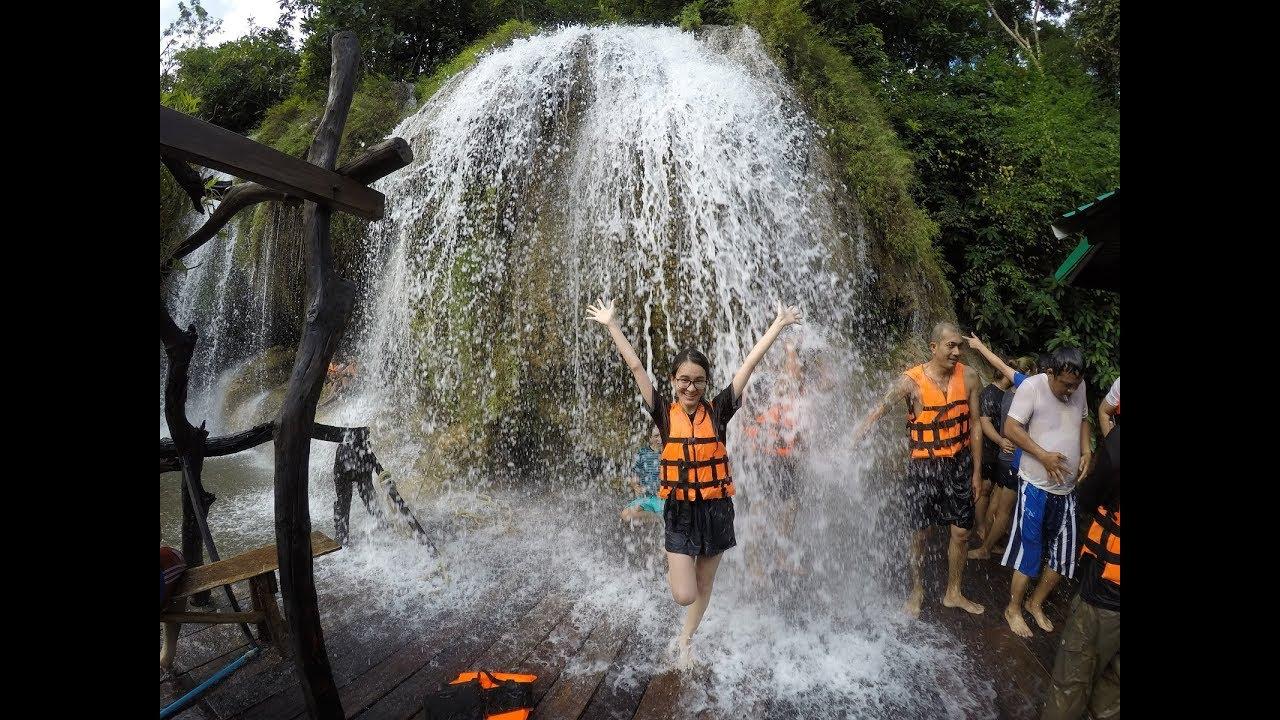 ล่องแพแม่น้ำแควน้อย เล่นน้ำตกไทรโยคใหญ่ กาญจนบุรี