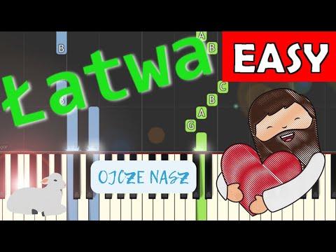 🎹 Ojcze Nasz (modlitwa) - Piano Tutorial (łatwa wersja) 🎹