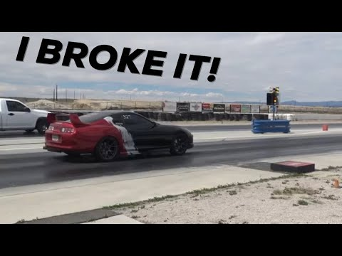 Took the Supra to the drags | Immediately broke it.