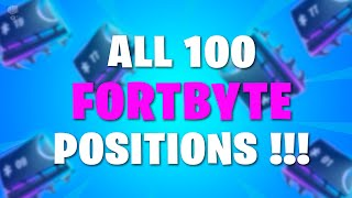 All 💯 FORTBYTE Locations - UNLOCKED in Fortnite 🔥🔥🔥