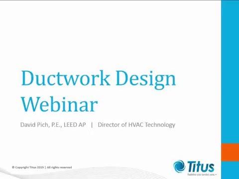 Ductwork Design Webinar