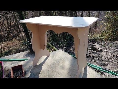 Как сделать стол своими руками из фанеры видео