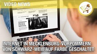 Internet in Mecklenburg-Vorpommern wird von schwarz-weiß auf Farbe geschaltet