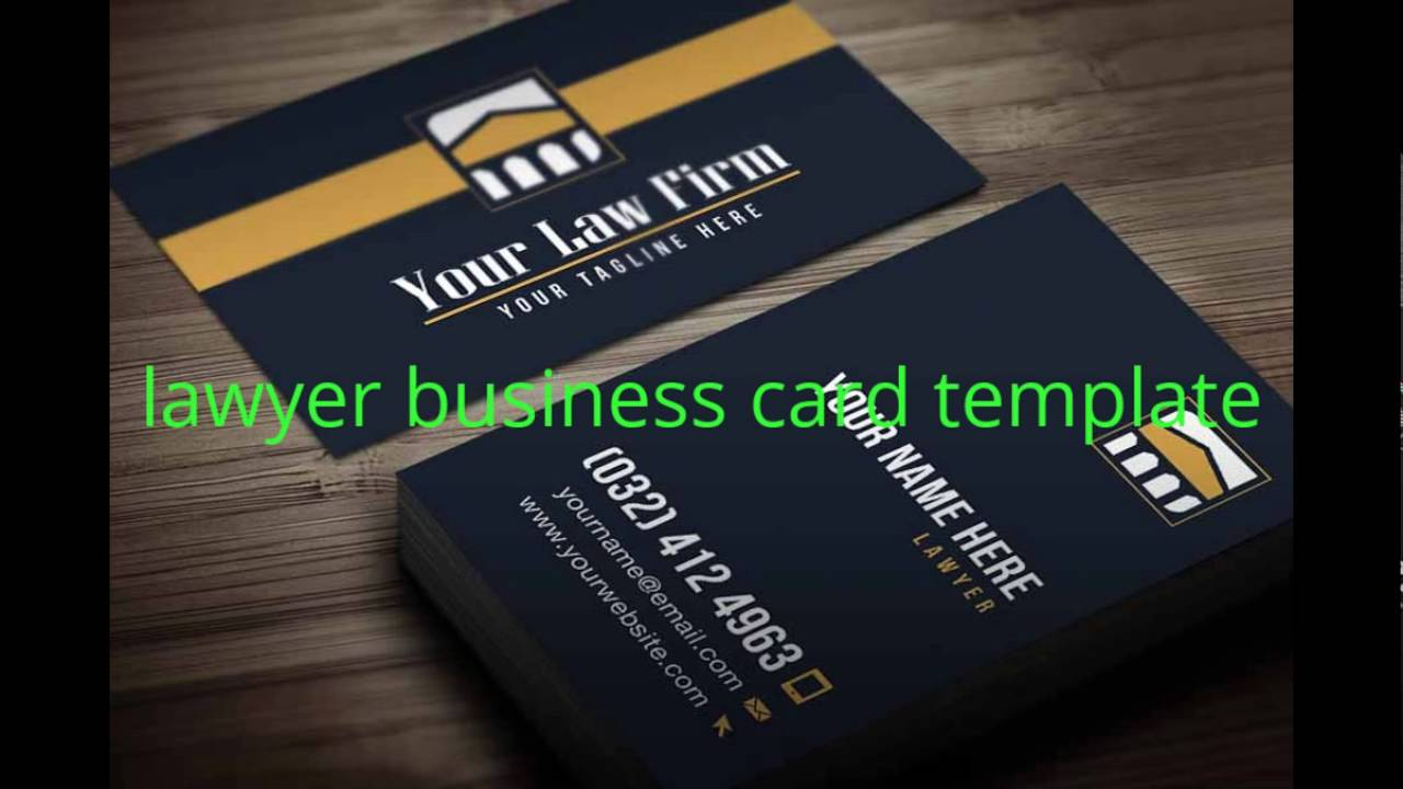lawyer business card template YouTube