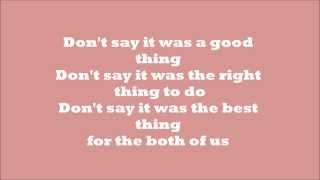 Sam Smith- Restart Lyrics