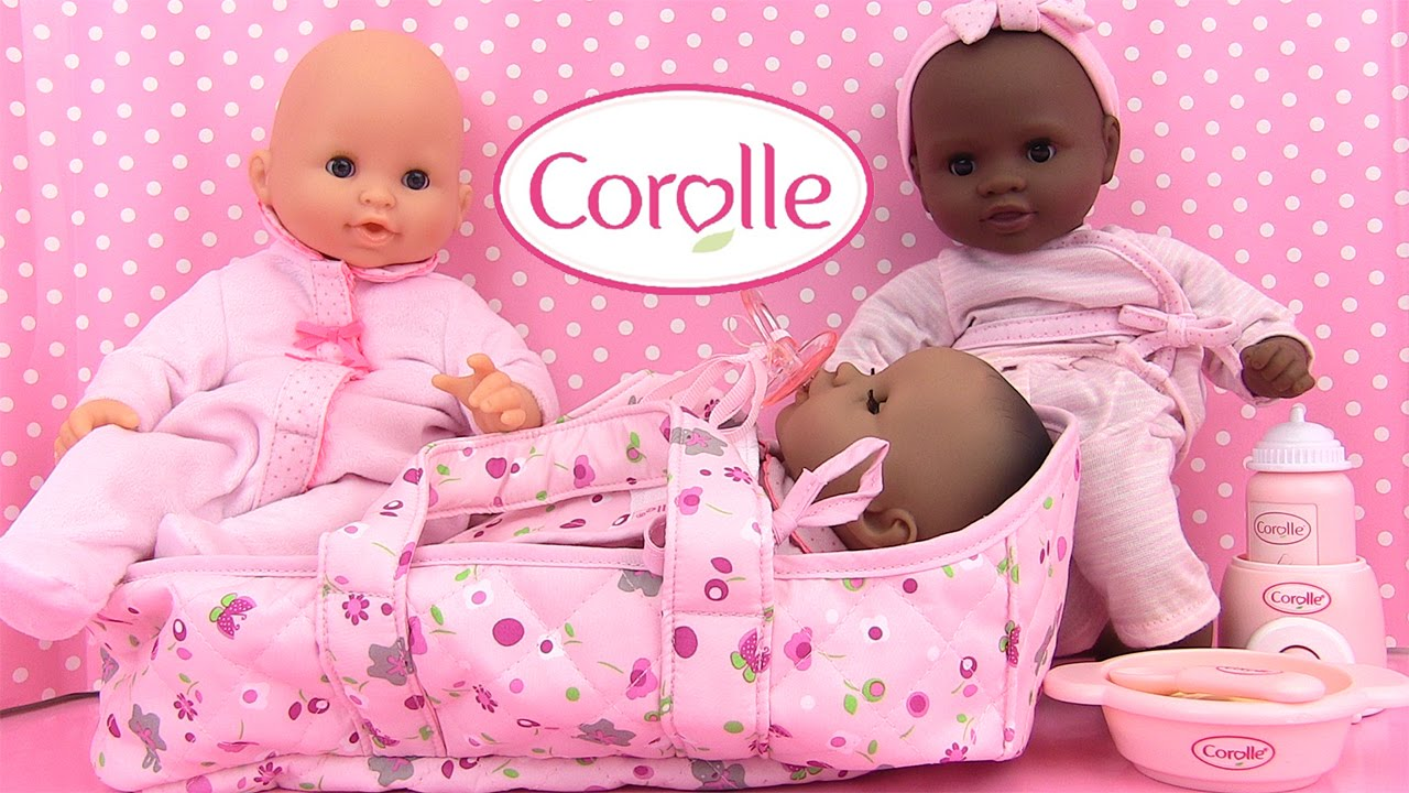 corolle b b mon premier couffin poup e baby doll moses basket youtube. Black Bedroom Furniture Sets. Home Design Ideas