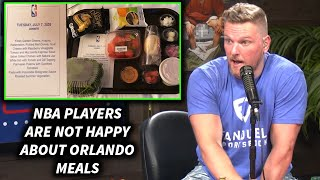 Pat McAfee Reacts To Photo Of NBA Players Meals While In Orlando