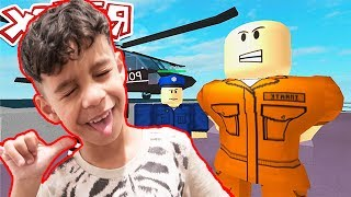 CRAZIEST PRISON ESCAPE IN ROBLOX!!