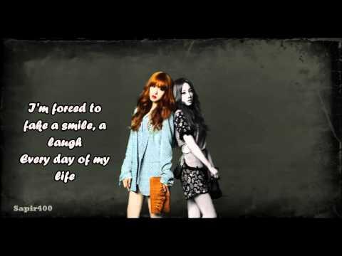 Taeny - Because of you (lyrics)