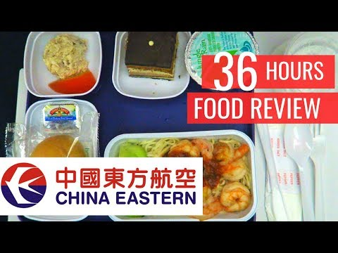36 Hrs CHINA EASTERN AIRLINES | CHINESE FOOD In Economy Class ► Honolulu To Shanghai Airport