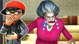 TROLL ÖĞRETMENE FARE ŞAKASI AĞLADI Scary Teacher 3D