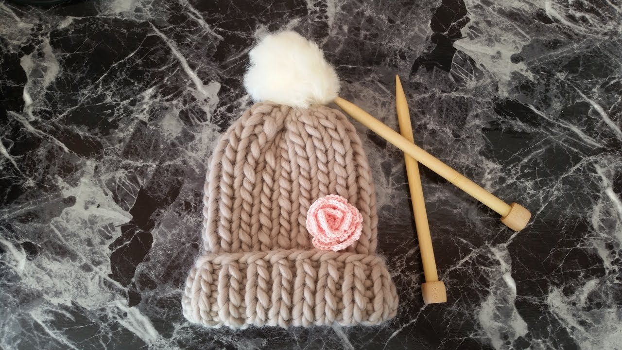 e2948b7c99681 DIY Knit Chunky Hat (Fast   Easy) - YouTube