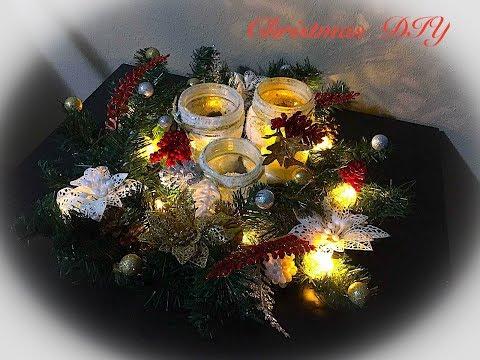 3 EASY & CHEAP Christmas Centerpiece DIY | DOLLAR TREE