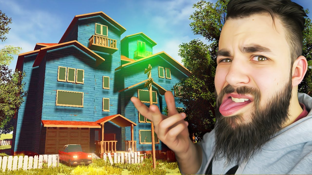 The hello neighbor house - What S Behind The Glowing Door On The Roof Hello Neighbour Hello Neighbor Gameplay Youtube