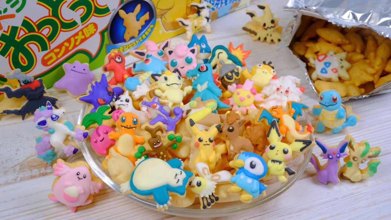 ポケモンおっとっとをアイシングでデコってみた Icing Pokemon on tiny snack