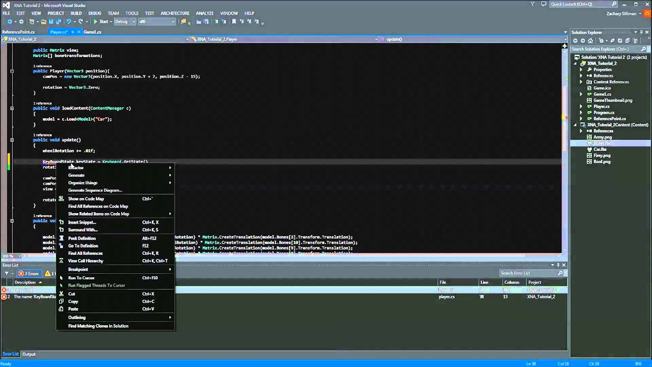 3d tutorial, chapter 9. 4 / beginner's guide to xna game studio 3. 0.