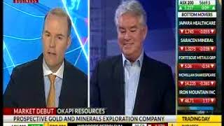 Okapi Resources featured on Sky News Business on 28th September 2017