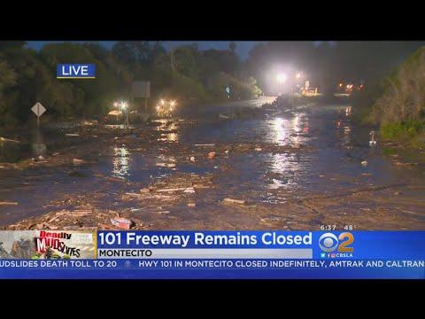 4 Still Missing In Montecito Mudslides, 101 Freeway Remains Closed
