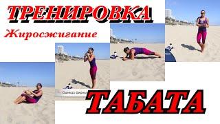 Тренировка Табата на берегу океана (Лос Анжелес)