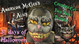 Cheshire Cat Inspired Face Paint Tutorial - American McGee's Alice -