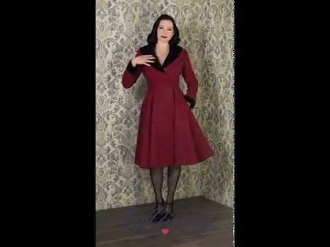 TopVintage - 50s Vivien Swing Coat in Burgundy